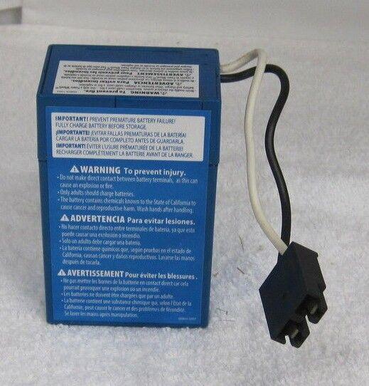 Wheels Blue Battery 6v 00801 1900 6 Volt Fisher