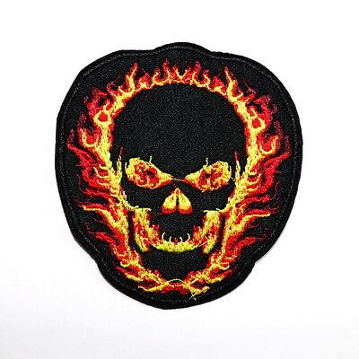Red Skull Halloween Skeleton Zombie Rock Punk Bike Shirt backpack Bag Iron Patch