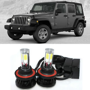 Details About High Power H13 Led Bulb Headlight Lamp Upgrade Kit For Jeep Wrangler Jl 2018