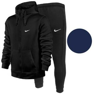 Nike Men's Zip Up Hoodie and Sweatpants Complete 2 PC Jogger Sweatsuit