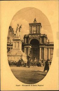 NAPOLI-Neapel-Naples-Italien-um-1910-Dante-Alighieri-Cartolina-Vintage-Postcard