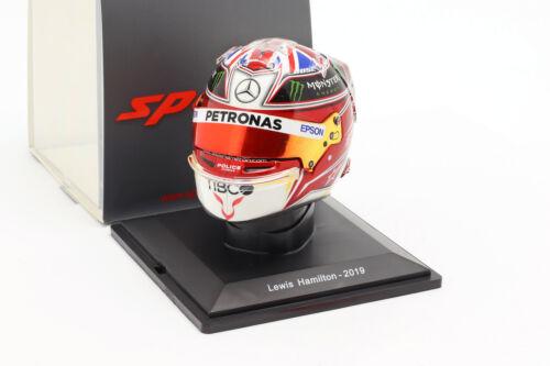 Lewis hamilton #44 Mercedes-AMG Petronas campeón mundial f1 2019 casco 1:5 Spark