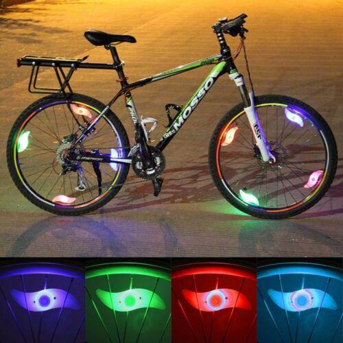 1-10X RGB Bike Bicycle Cycling LED Spoke Wire Tire Tyre Wheel Light Decor Lamp R
