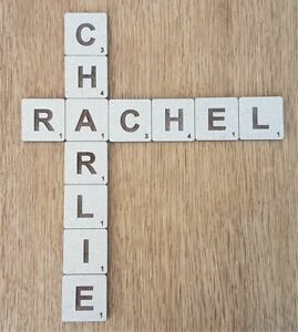 Large Wooden Scrabble Tiles Wall Art  SOLID 4cm 7cm 9cm 12cm 21cm