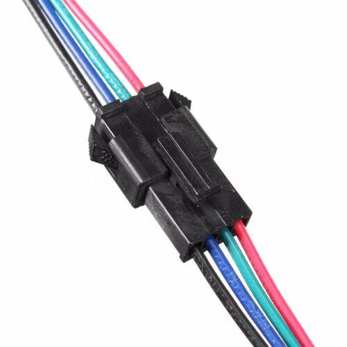 10 Ensembles 15 cm 4 Broches JST SM-2.54 22AWG Wire Mâle /& Femelle Connecteurs avec fil BE