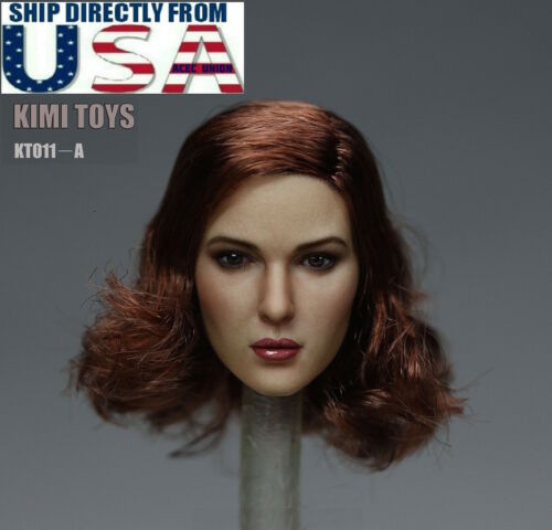 SELLER 1//6 Female Head Sculpt Short Hair KIMI KT011 A For Hot Toys Phicen U.S.A