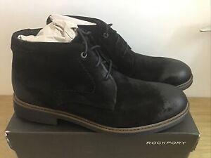Rockport Black CB Chukka Boots V82423 Size UK 10 EUR 44.5 BNIB