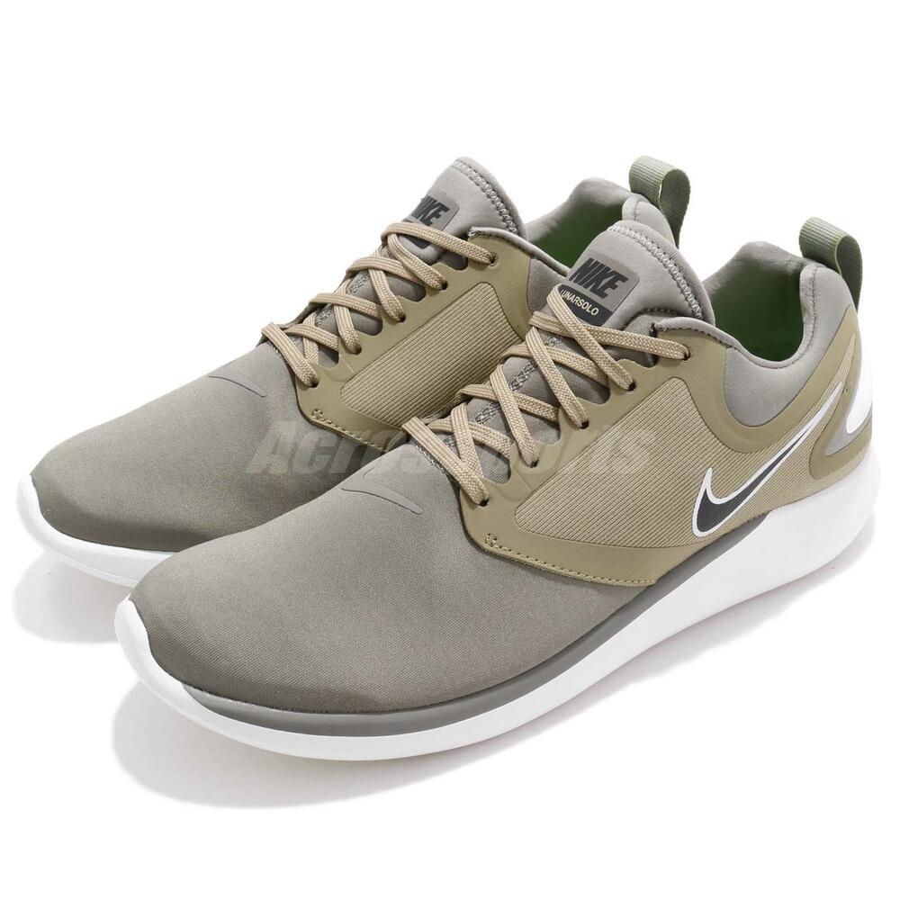 Nike Lunarsolo Dark Stucco Green noir homme fonctionnement chaussures Sneakers AA4079-007