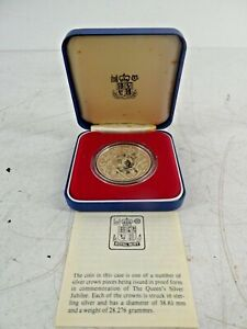 Royal Comme neuf Proof solid sterling silver Queen Elizabeth 2 1977 JUBILEE Crown A28