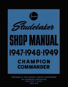 Outstanding 1947 1948 1949 Studebaker Shop Service Repair Manual Book Engine Wiring Cloud Funidienstapotheekhoekschewaardnl