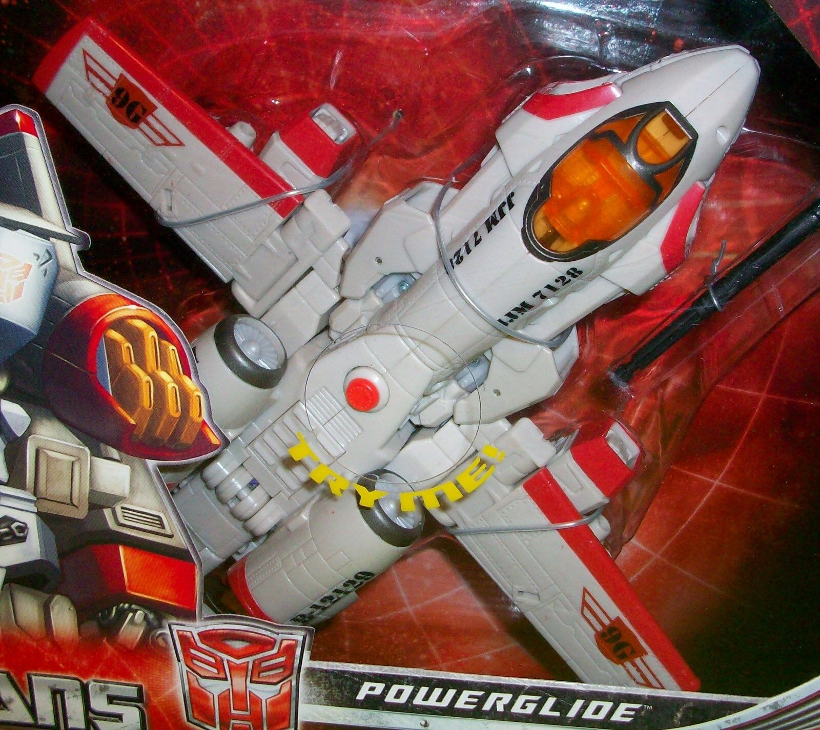 POWERGLIDE TRANSFORMERS Universe Classsic Series Fighter Jet Movie Robot Weapon