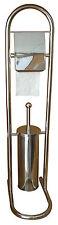 Protenrop Toilet Butler Brush Paper Roll Holder Set Stainless Steel Chrome Stand