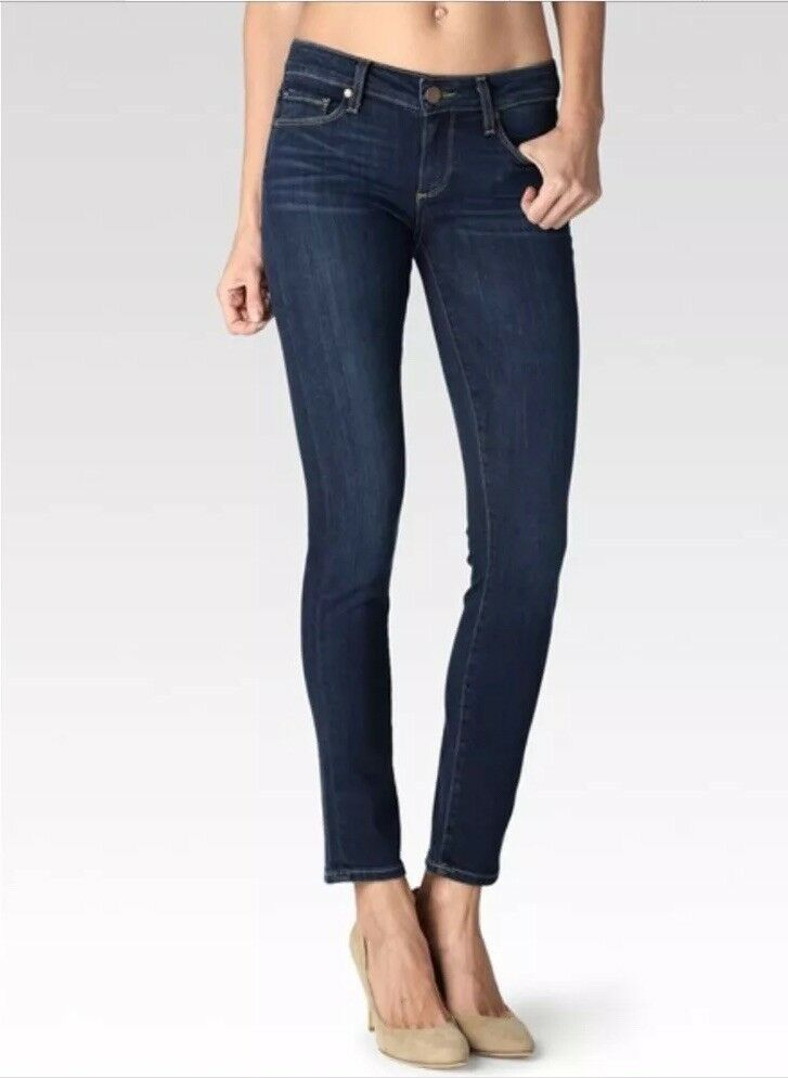 Paige Skyline Ankle Peg Skinny Jeans in Libby Wash Womens Sz 27