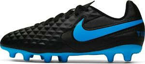 Nike-Hommes-Football-cames-Chaussures-Tiempo-Legend-8-Club-Fg-MG-noir-bleu