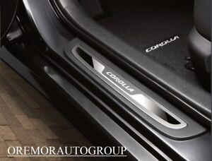09-13 Corolla Gray Door Sill Protectors Genuine Toyota OEM PT922-02080-01