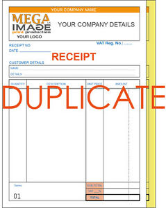 Image Is Loading PERSONALISED DUPLICATE A5 INVOICE BOOK PAD PRINT NCR   Book Invoice