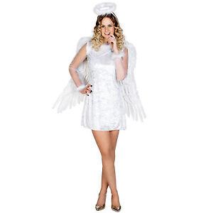 Sexy Weihnachtsengel Karneval Damen Kostum Engel Christkind