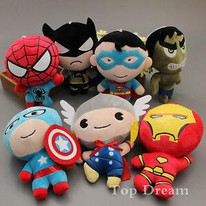 Cute-The-Avengers-Heroes-Plush-Toy-Soft-Stuffed-Doll-Kids-Gift-New
