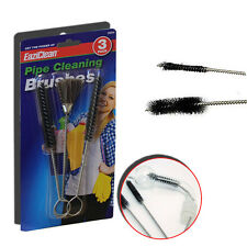 3 x Cepillo Cepillos de Limpieza de Tuberías paja de acero de Botellas de Vidrio Limpiador Fregadero Flexible
