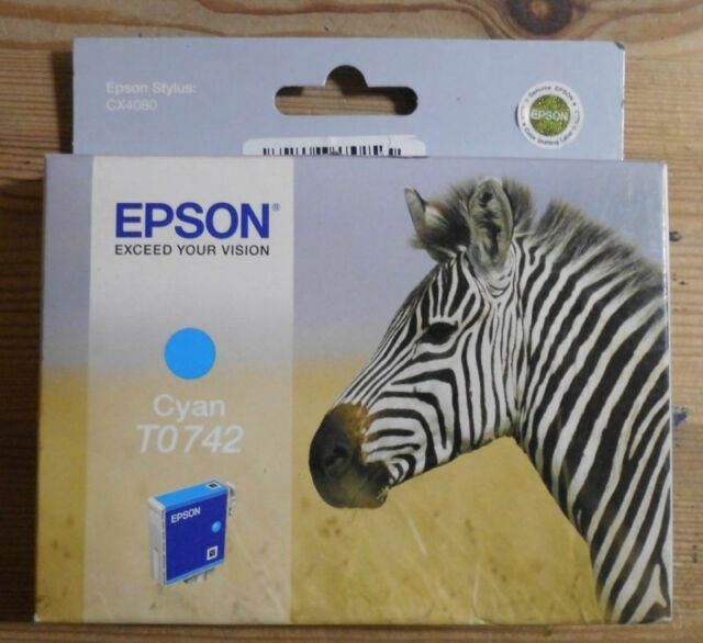 Original Epson T0742 Tinte cyan für Stylus CX4080 C13T074240   OVP