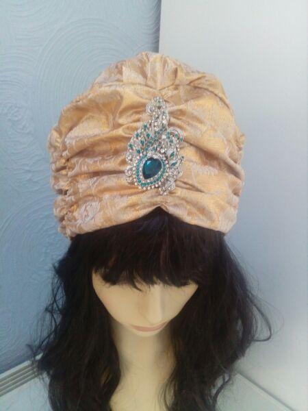 1950s1960s Di Ispirazione Vintage Regina Cleopatra Stile Cappello Taglia Unica Cappello Formale Gold.,