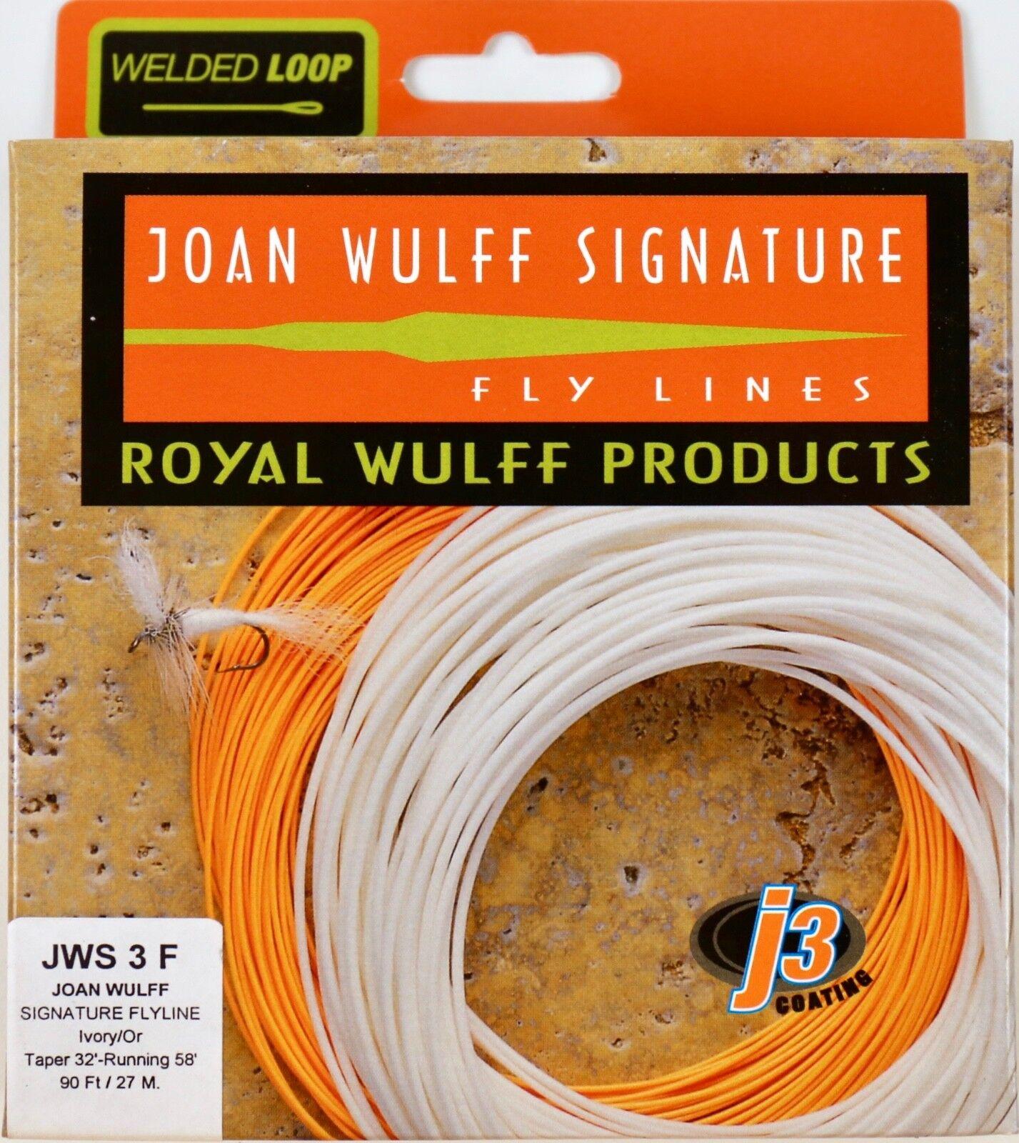 Royal Wulff Joan Wulff firma 3 WT Flotante Línea Mosca  Envío Gratuito JWS3F  tienda en linea