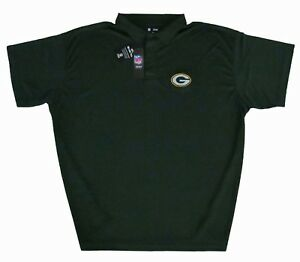 Green-Bay-Packers-Men-039-s-NFL-Green-Performance-Polo-Big-amp-Tall-Sizes-NWT