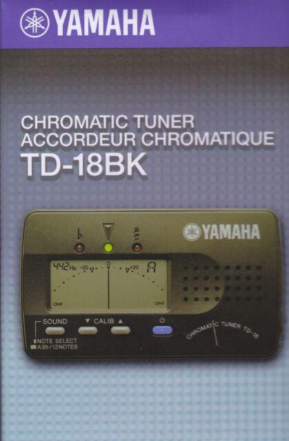 TD-18BK Chromatic Tuner - Yamaha - BRAND NEW