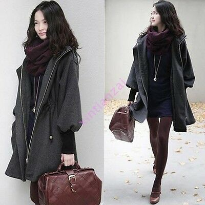 Womens Hooded Belt Warm Jacket Trench Coat Parka Winter Outwear Casual Vogue New