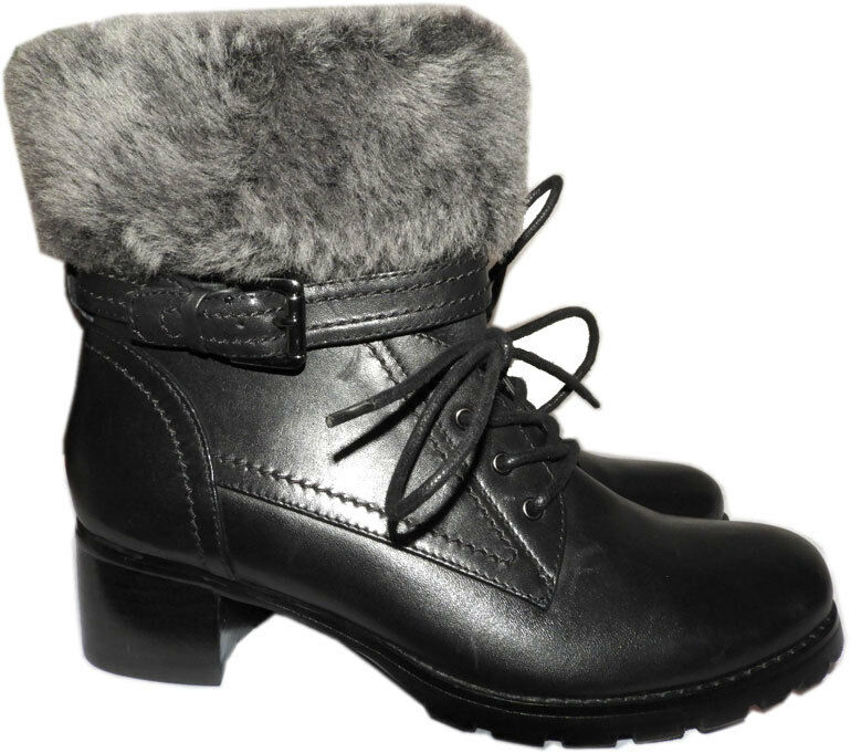 BLONDO Shearling Fur Lined Leather Weather Boots Fiory Winter Ankle Booties 6