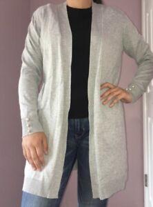 XL//1X//2X//3X New Heather Charcoal Gray Cardigan Sweater Top Jacket Blazer Tee
