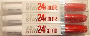 3x-Maybelline-Super-Stay-LIPSTICK-24HR-Color-2-Step-560-RED-ALERT