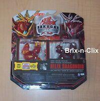 Bakugan Gundalian Invaders Evil Twin Pack Helix Dragonoid Sealed Target 2010