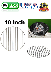 "Cooking Replacement 10.5"" Crome Grill Grate Round Smoker Vertical BBQ For Weber"