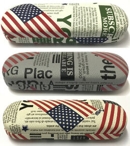 C31-1-Magazine-Newspaper-Design-Style-Reading-Glasses-Hard-Case-USA-Flag-Pattern