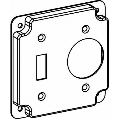 Orbit 4413 4 Inch Square Industrial Cover Toggle Switch Or Single