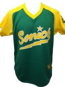 Nuevo-Seattle-Supersonics-Hombres-Talla-S-M-L-XL-2XL-Mitchell-amp-Ness-Camiseta