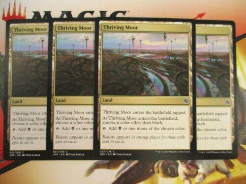4 Thriving Moor #37 Playset New MTG JMP Jumpstart Black Land Multicolor