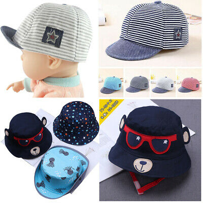 Boy Girls Kids Baby Baseball Cap Cartoon Print Toddler Snapback Beanie Sun Hat