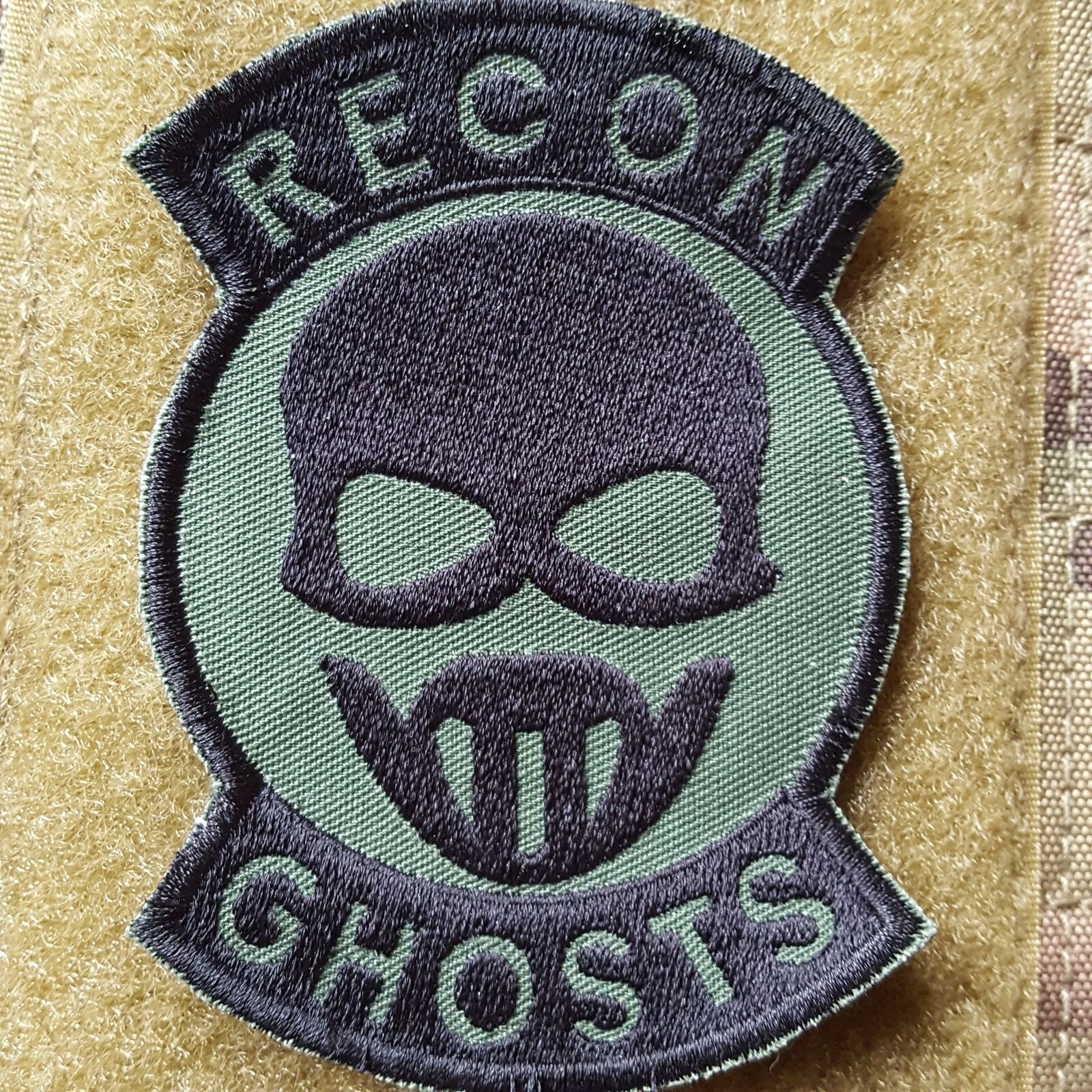 Recon Ghosts COS Ksk SAS SP SP SP Ops Tactical morale écusson velcro patch olive NEUF 762475