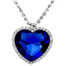 Caratcube Sapphire Blue Austrian Crystal Heart Of The Ocean Titanic Pendant