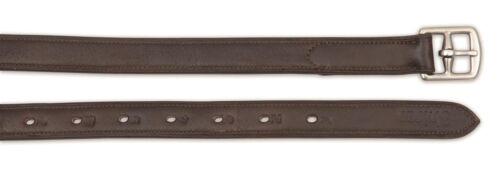 "Shires quality non stretch stirrup leathers black havana 61/"" 54/"" 48/"""