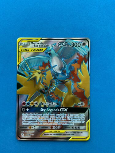 Details about  /Pokemon Moltres /& Zapdos /& Articuno GX Tag Team 66//68 Hidden Fates Full Art NM