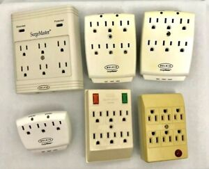 Lot-of-6-Wall-Surge-Protector-Outlets-3-amp-6-Outlet-Capacity-Input-Output-Belkin