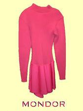 Mondor® #4552 Size Adult Large Pink Outdoors/Cold Rink Rib Knit Skating Dress