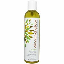 Almond Glow Coconut Body Oil Lotion Revitalizes the Skin 8oz Free Shipping