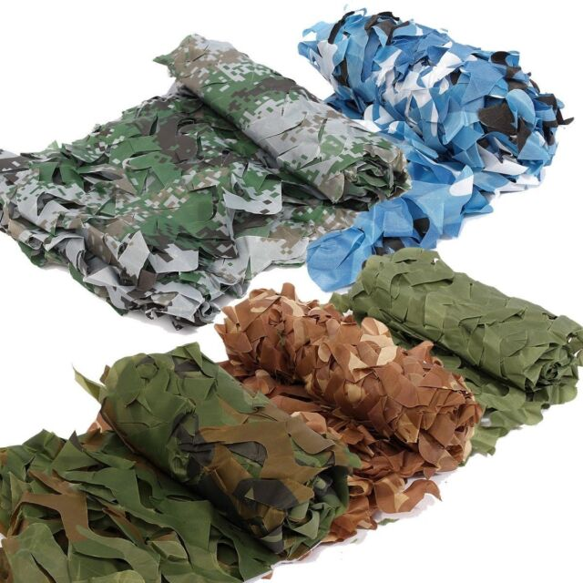 Woodland Camouflage Netting Military Camo Hunting Shooting Hide Cover Net NEW