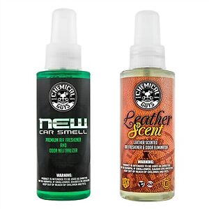 Chemical Guys New Car Scent & Leather Scent Sample Kit (4 oz)