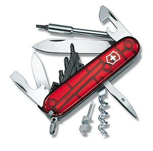 Victorinox - Swiss Army Knife Cyber Tool S Ruby 34 Function - 1.7605.T