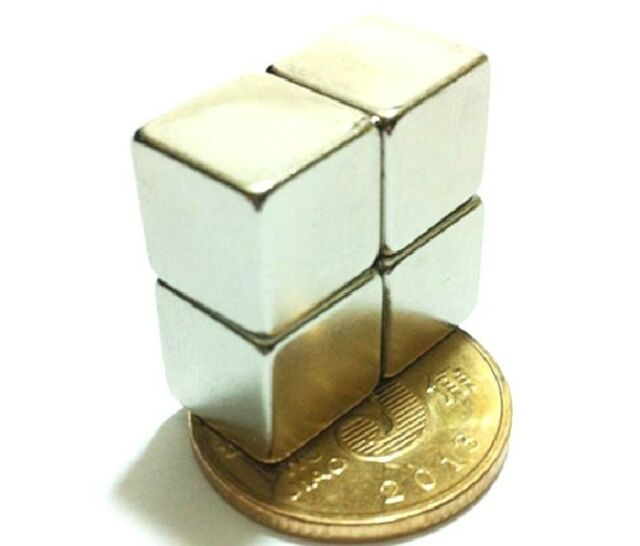 "5pcs N52 block 10x10x10mm Neodymium permanent super strong Magnet 2/5""*2/5""*2/5"""